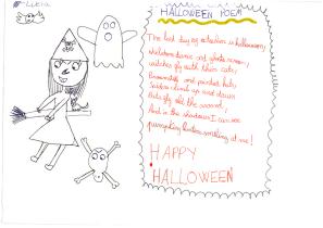 """Halloween poem"" by Lucía"